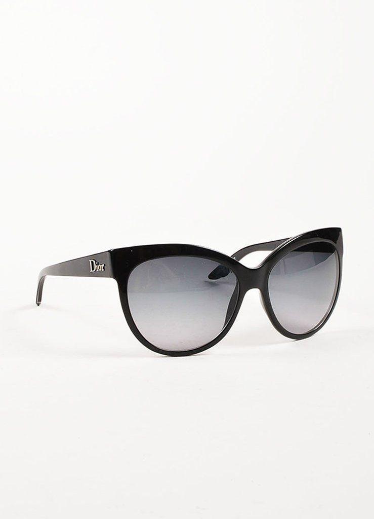 Christian Dior Black Oval Cat Eye