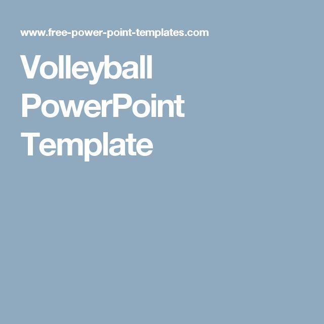 Volleyball powerpoint template aa pinterest volleyball and volleyball powerpoint template toneelgroepblik Gallery
