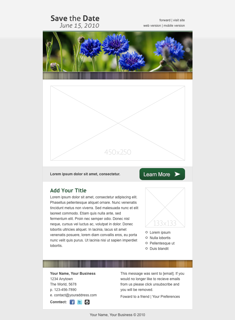 save the date email template date save template email