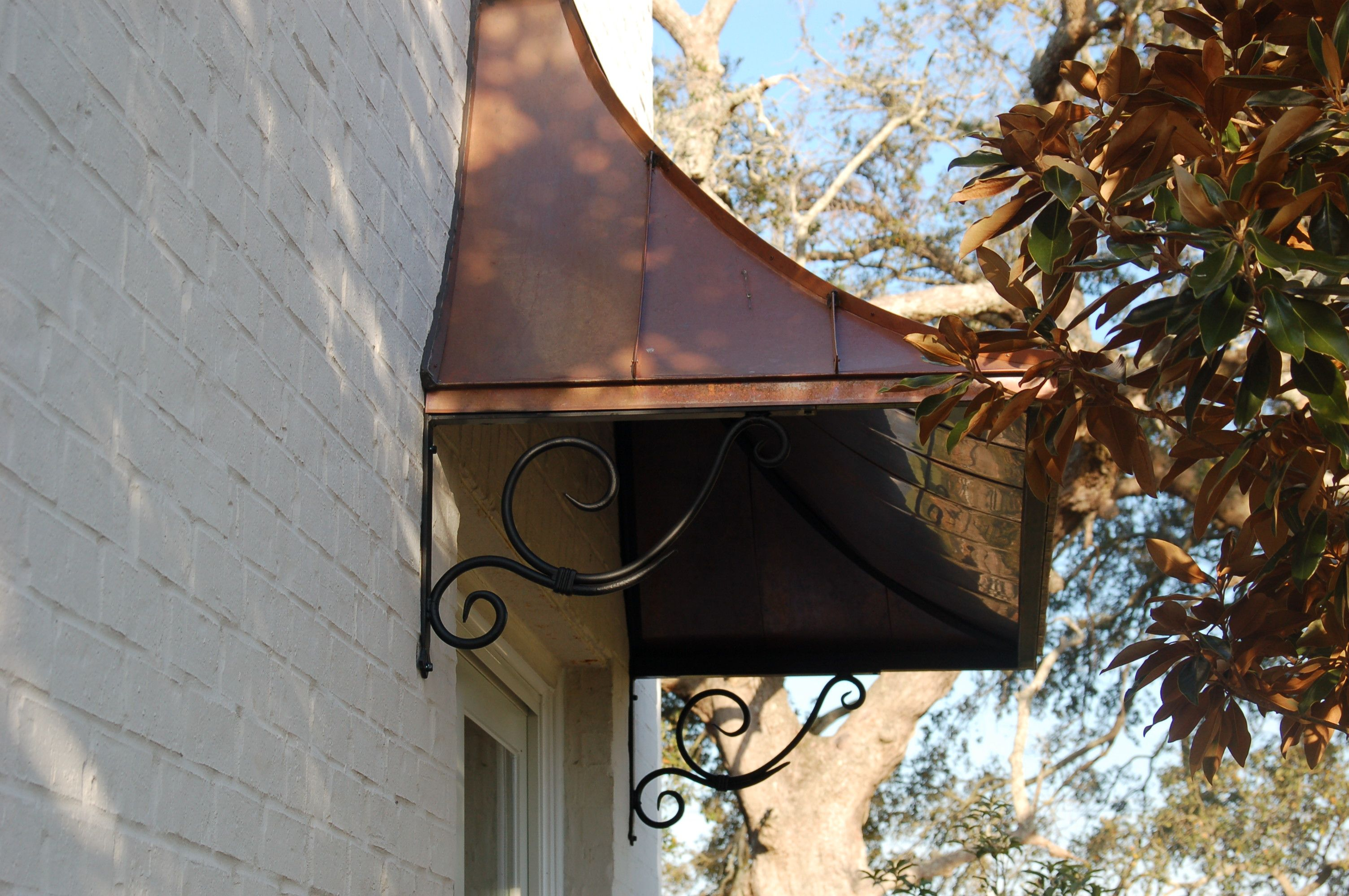 Copper Awning So Elegant Metal Door Awning
