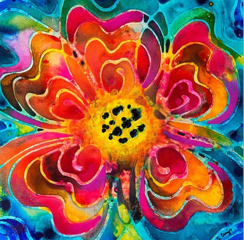 Cuadros faciles de flores pintados al oleo cuadres a fer - Pintar con acrilicos paso a paso ...