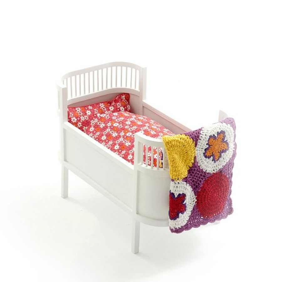 Toy Retro Dolls Bed Mini Crib White Doll Bed Small Crib Bed