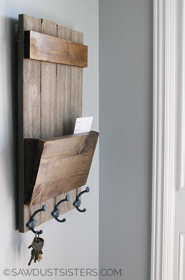 Farmhouse Style Shiplap Wall Key Holder Wall Key Holder Key Holder Diy Entryway Key Holder