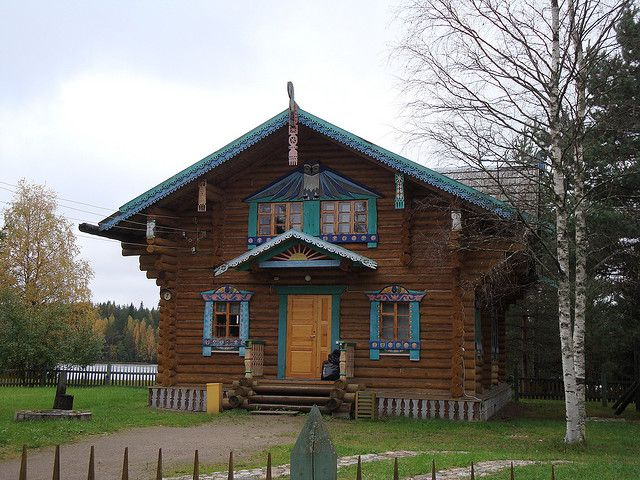 Typical Russian Cottages In Svirstroy Cottage European House