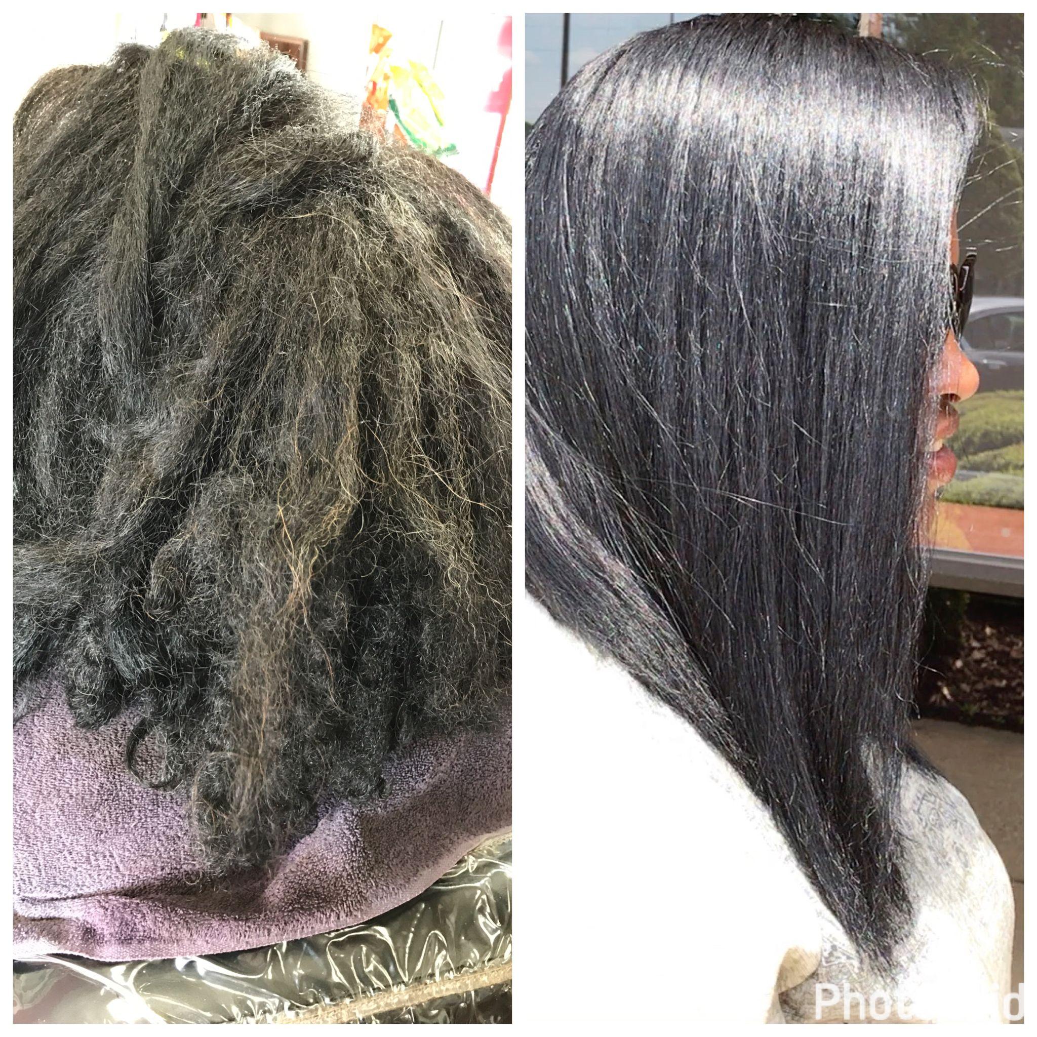 Silk Press On Natural Hair By Hairstylist Latoya Jones At L Jones Salon Www Latoyajoneshair Flat Iron Hair Styles Silk Press Natural Hair Natural Hair Styles