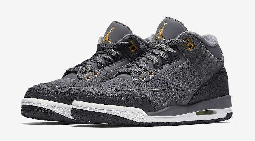9302a253b48927 Air Jordan 3 GS Anthracite Color  Anthracite Metallic Red Bronze-White-Dark  Grey Style Code  441140-035 Release Date  October 7