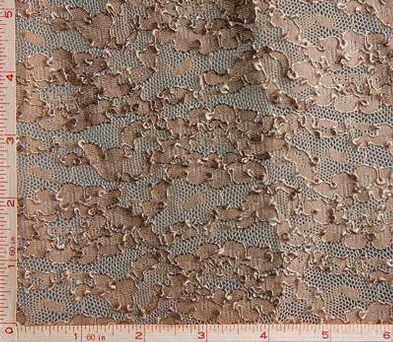 Dark Navy Flower Embroidery Lace Fabric 4 Way Stretch Nylon 68-70