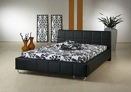 Muebles Bonitos - Cama de matrimonio de diseño sofia en color negro ...