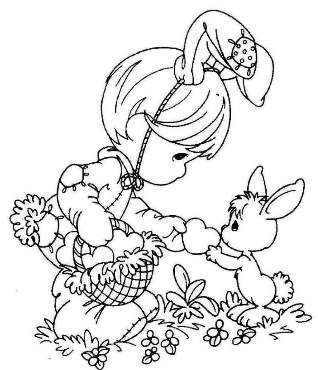 Free Easter Printables Free Easter Coloring Pages For Girls