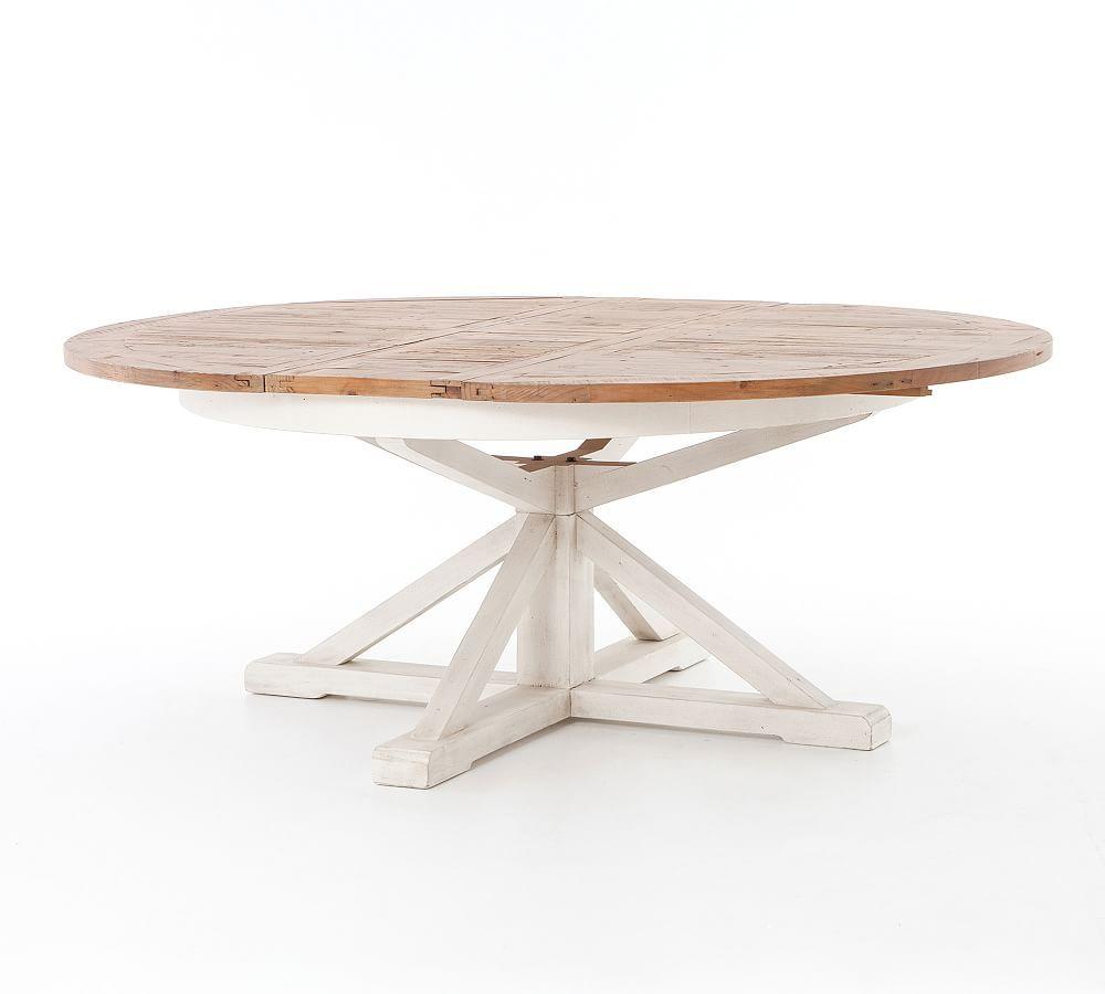 Hart Extending Dining Table Driftwood Limestone White 63 71