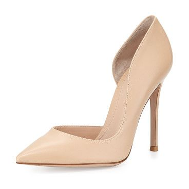 Leather open-side pump by Gianvito Rossi. Gianvito Rossi leather pump. 4