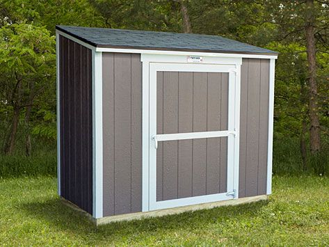 The Garden Hutch Model From Tuff Shed Is A Building With A Single Slope  Roof Design To Accommodate A Tall Door On The Shorter Exterior Wall (as  Shown) Or A ...