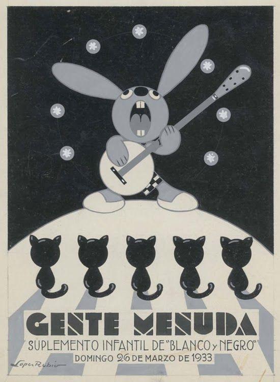 TICMUSart: Gente Menuda, 26 de marzo de 1933 - Francisco López Rubio (1895-1965) Portada para la publicación Gente Menuda Colección del Museo ABC de Madrid (I.M.)