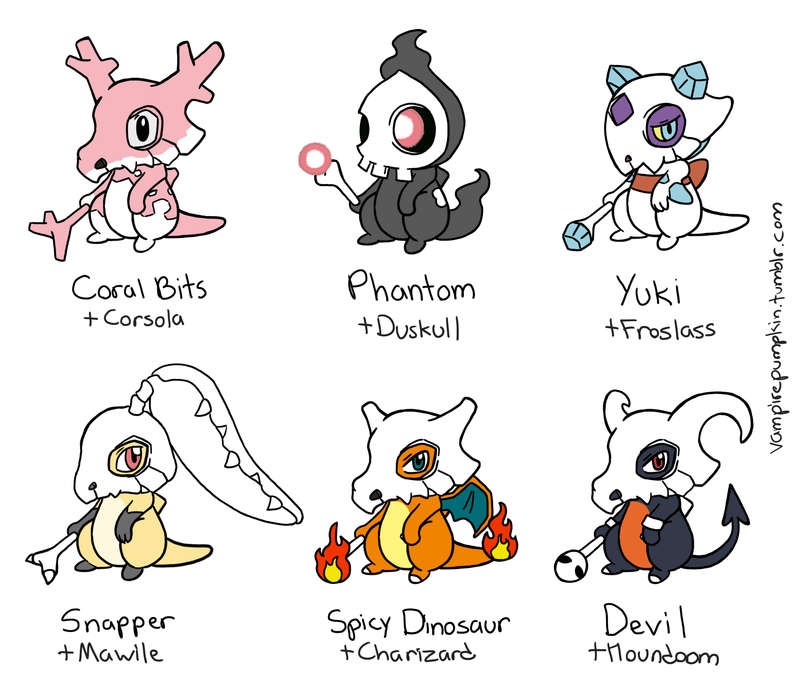 Cubone Variations Part 3 By Vampirepumpkin On Deviantart