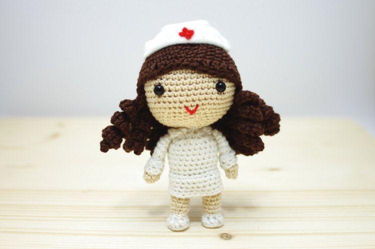 Pupazzo Infermiera Bambola Infermiera di Baby Doll 40 cm Nuovo Peluche