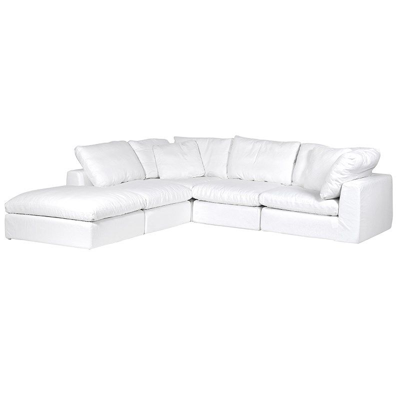 Nuage Pure White Corner Sofa Furniture