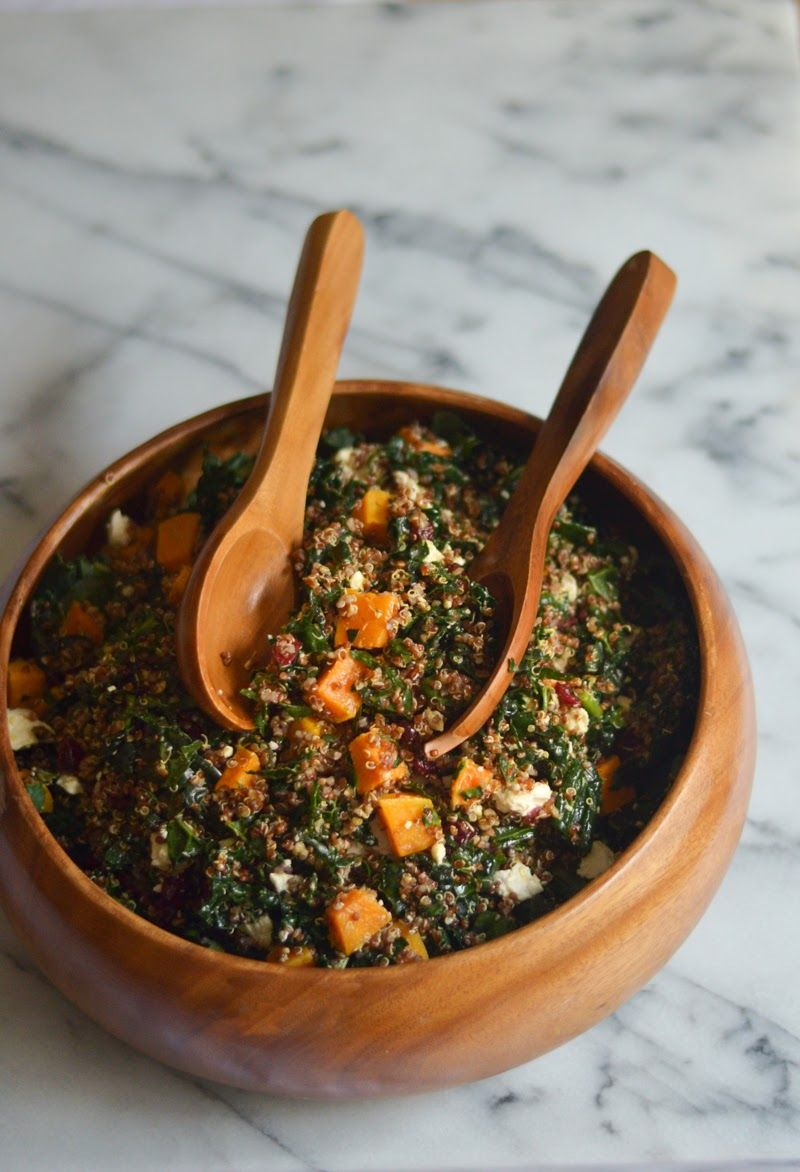 Squash, Quinoa, and Kale Salad