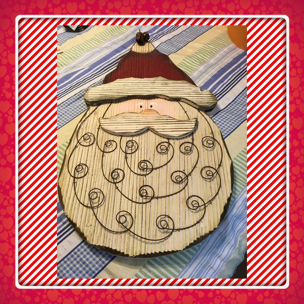 Enchanting Santa Face Wall Decor Crest - Wall Art Collections ...