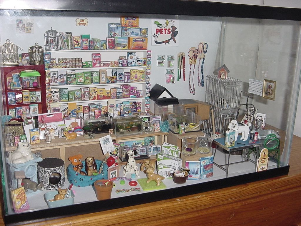 Muebles Salon Bonitos Beautiful Pet Shop Dolls House Roombox 3 Miniaturas