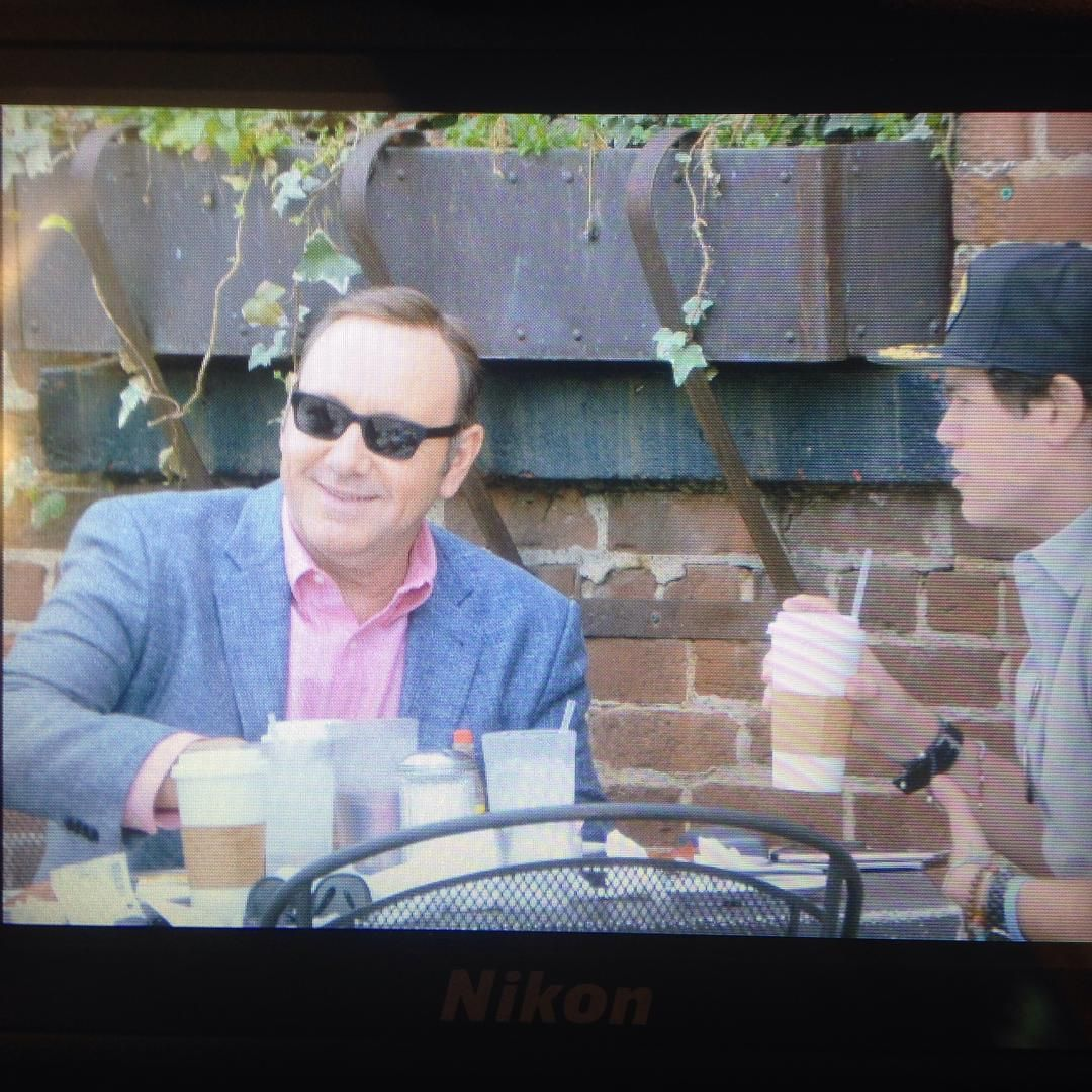 Kevin Spacey — Kevin Spacey and Evan Lowenstein out for coffee in...