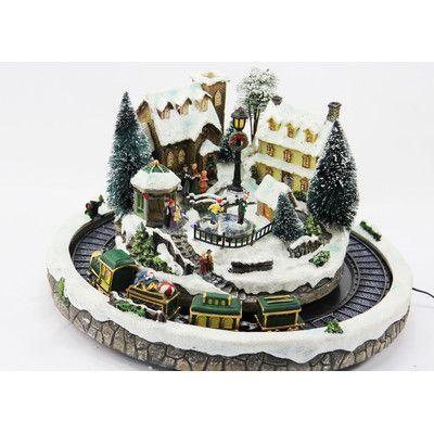 AdmiredbyNature Village and Moving Train