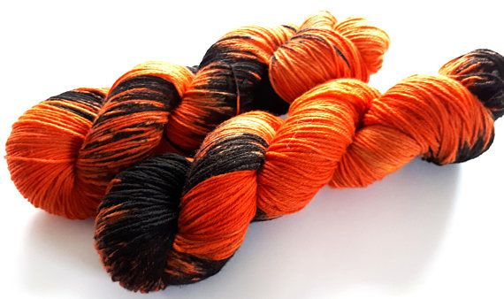 Hand painted Premium high twist sock yarn hand dyed: Happy