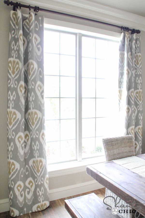 DIY Lined Window Panels CurtainsDiy CurtainsDining Room