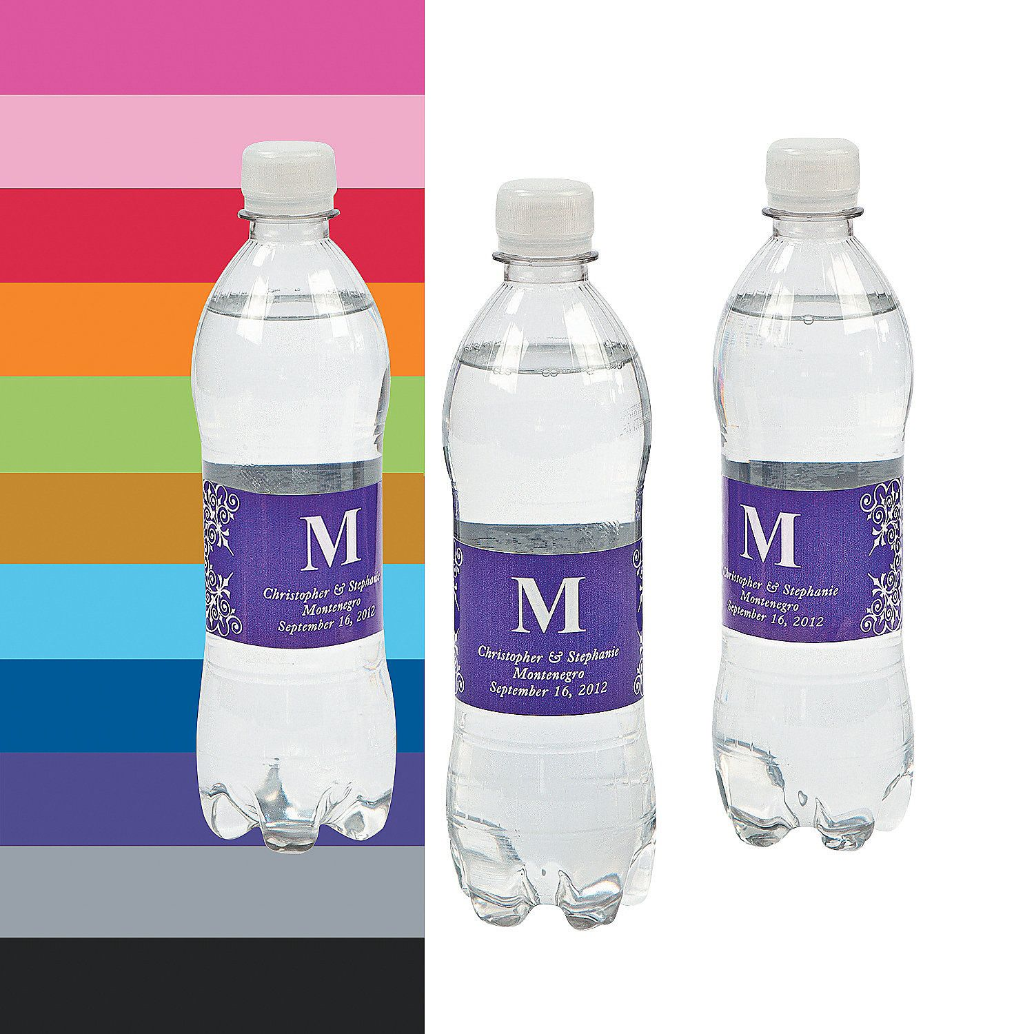 Monogrammed Water Bottle Labels --Welcome Bags (Prob use design from ...