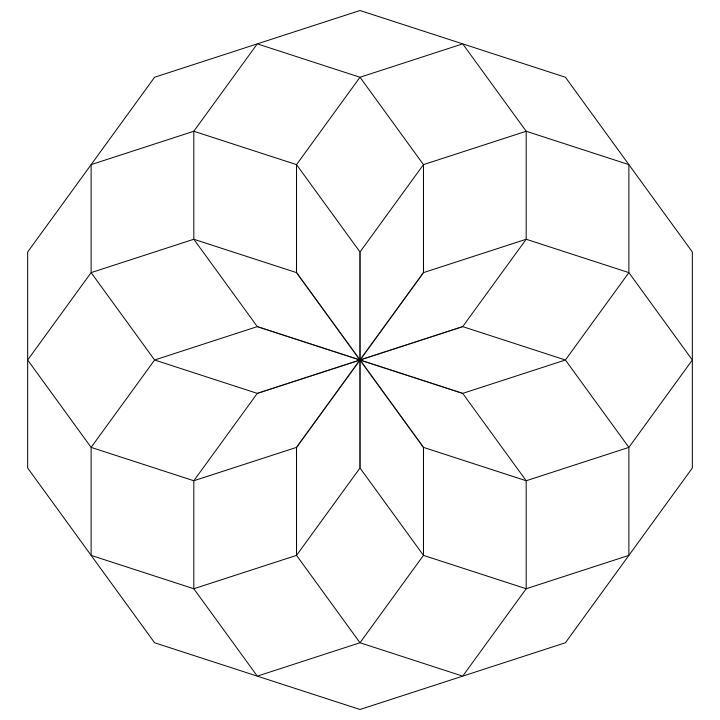 This Has A Lot Of Shapes In It But It S All Inside A Nonagon What Does It Look Like To You Quilt Patterns Art Painted Paper