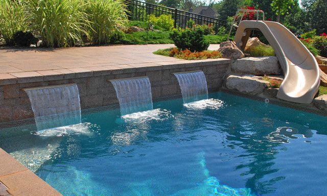 Beautiful Waterfalls Swimming Pools And