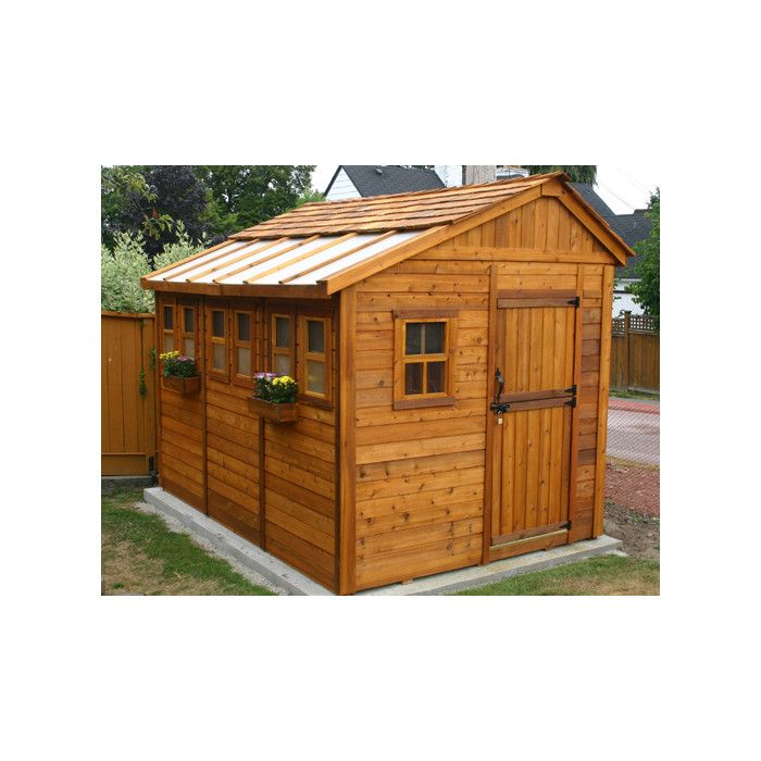 Great Outdoor Living Today Sunshed 8 Ft. W X 8 Ft. D Wood Garden Shed