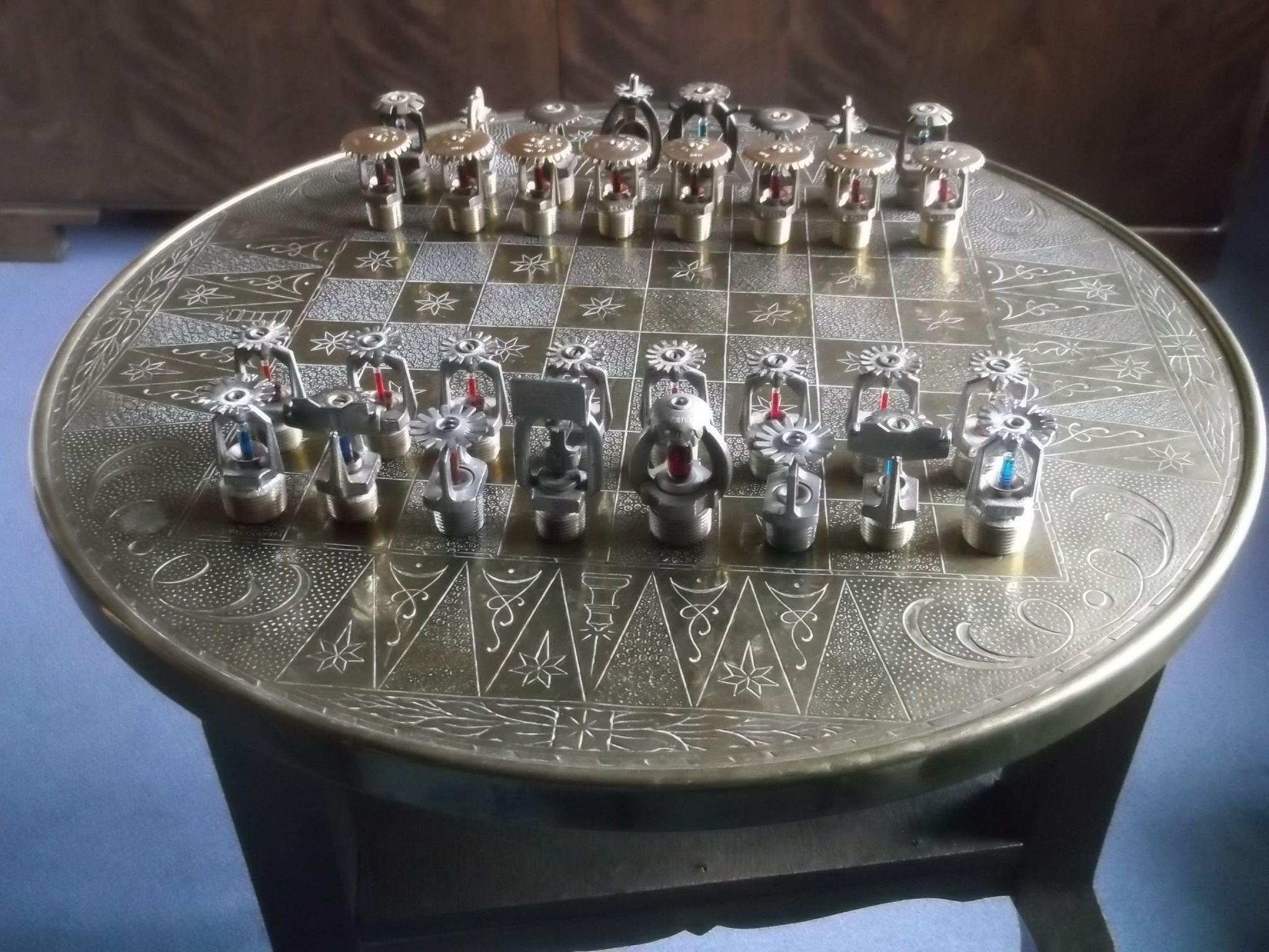 Fire sprinkler chess board Fire sprinkler system, Fire