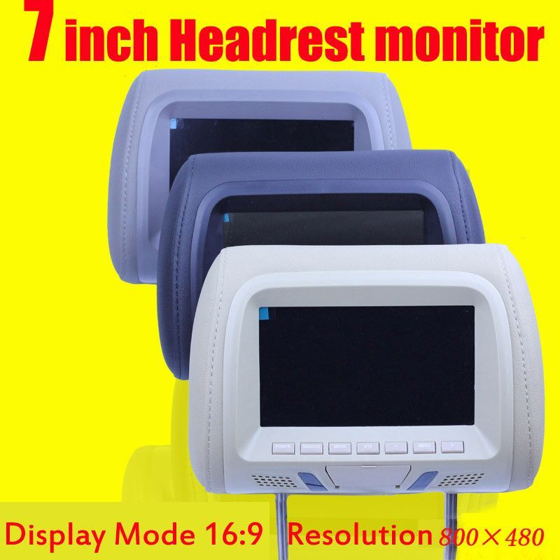 7 inch car monitor headrest monitor lcd color monitor