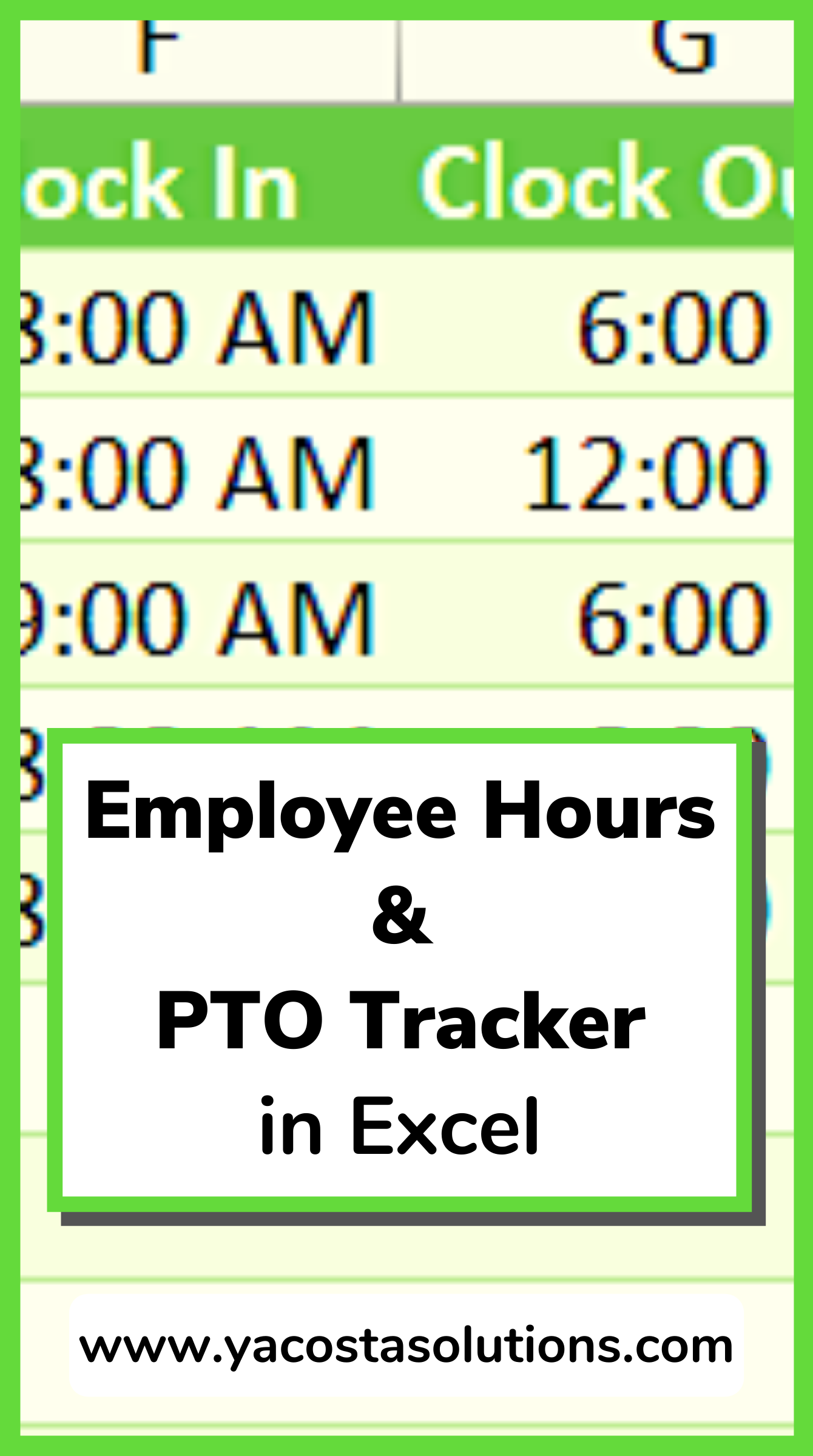 Employee Time Pto Tracker In Excel Excel Tutorials Microsoft Excel Tutorial Excel For Beginners