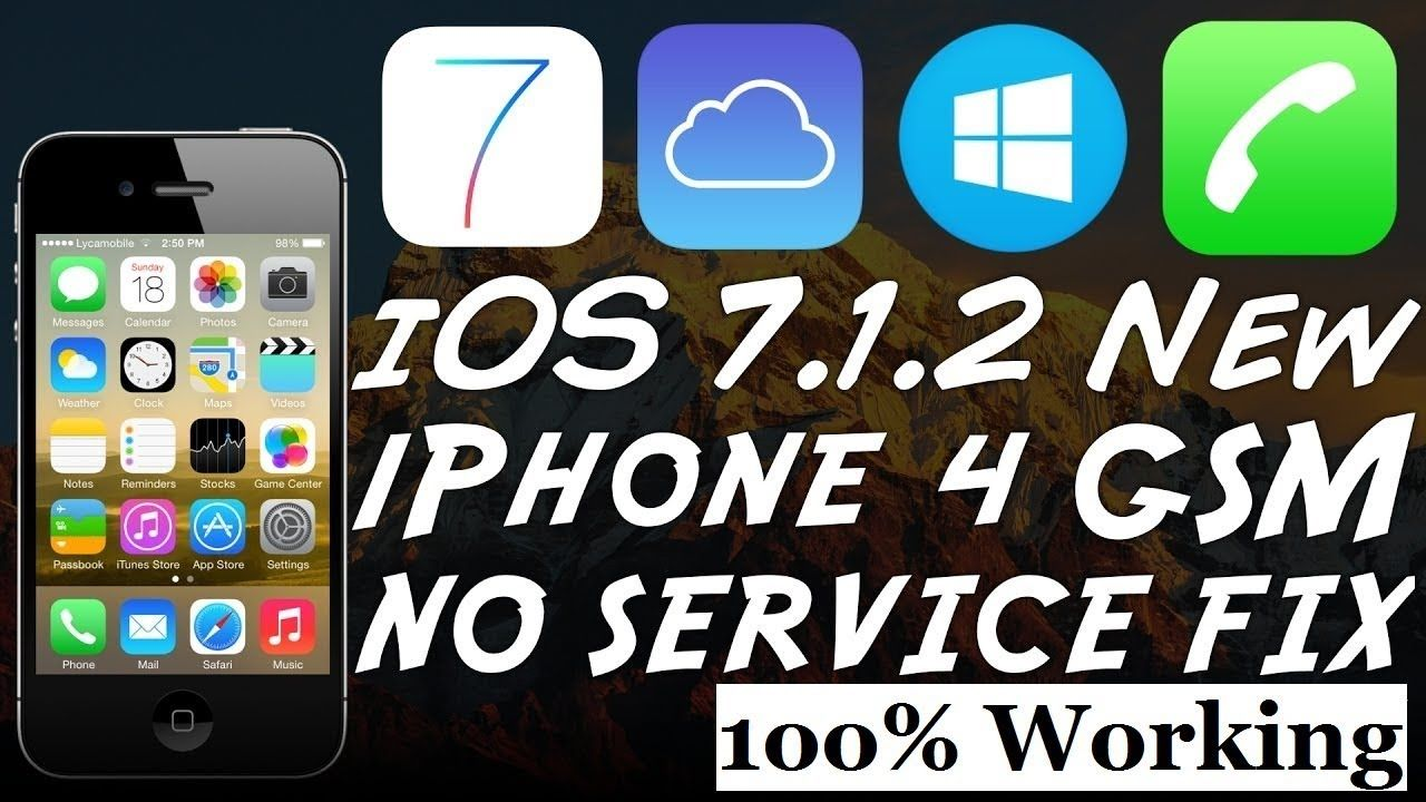 iPhone 4 iCloud Bypass After No Service Fix 2019 (100