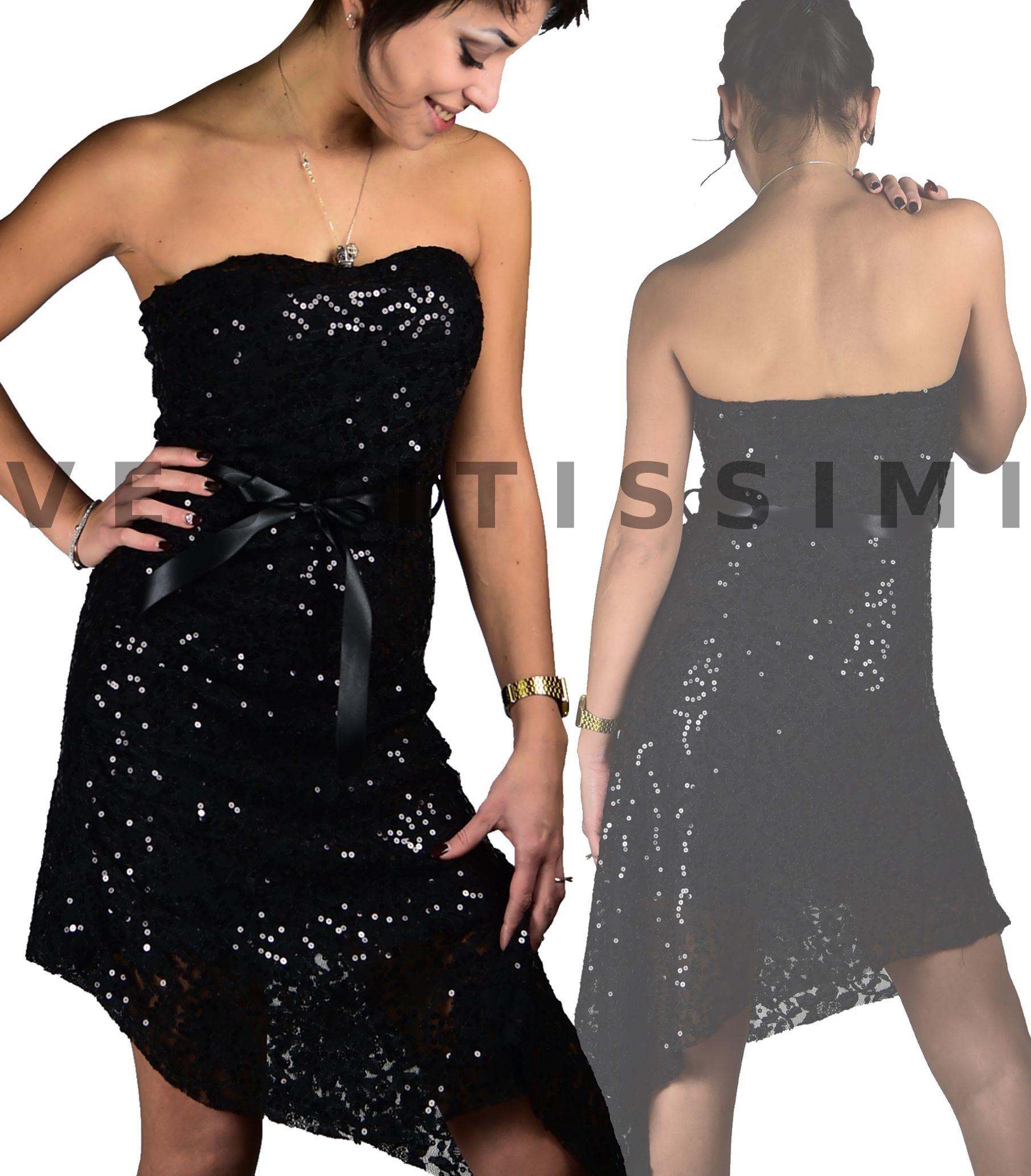 buy online 35d91 bdbab Pin su Vestito donna vestitino sexy miniabito pizzo abito ...