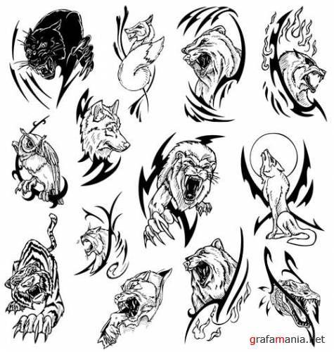 Tribal Animals Tribal Animal Tattoos Animal Tattoo Tribal Animals