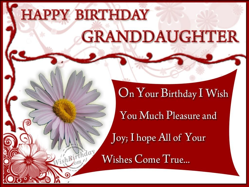 birthday quotes for granddaughters – Birthday Greetings Granddaughter