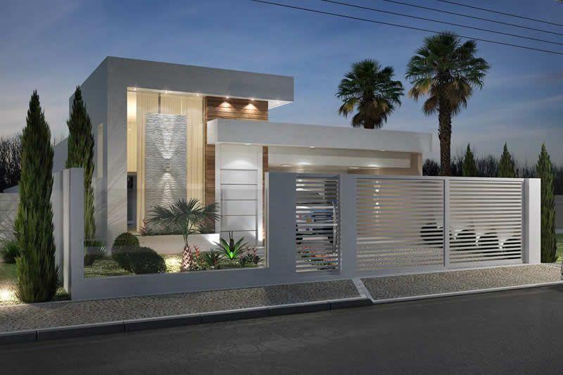Planta de casa com muro de vidro gorgeous homes - Muro exterior casa ...