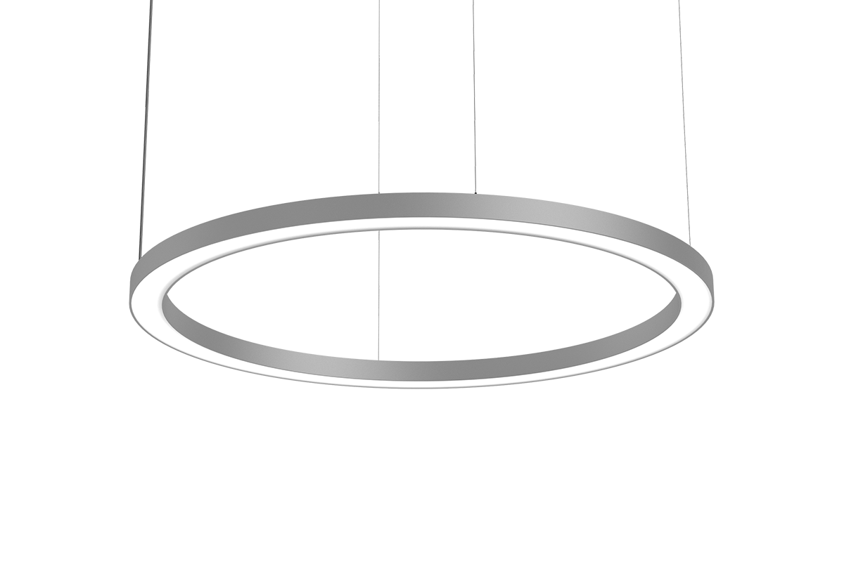 Pendant LED ring light Hoop LA is a giant glowing halo