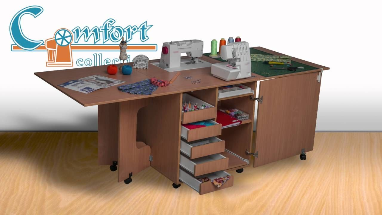 Diy ikea sewing table  Comfort sewing furniture production process  sewing rooms