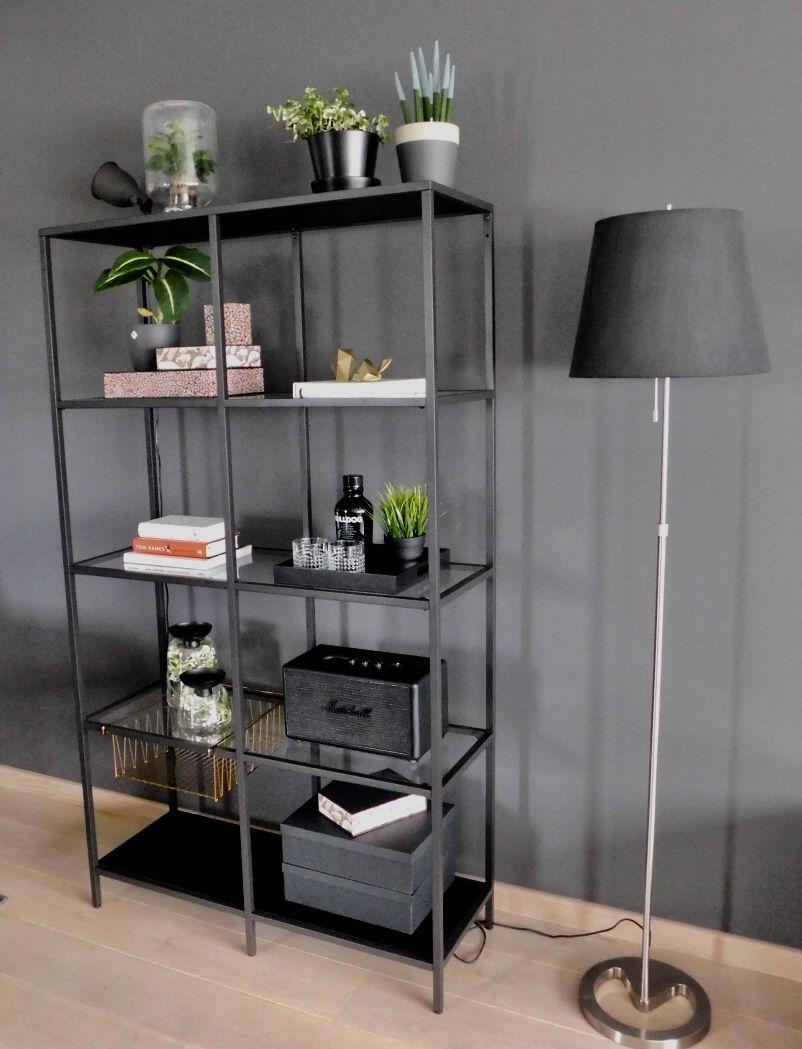 Ikea black Vittsjo shelf | Zimmergestaltung, Wohnung ...
