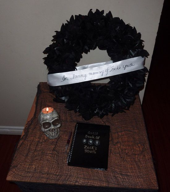 40th Birthday Funeral Wreath Halloween Decor Pinterest 40
