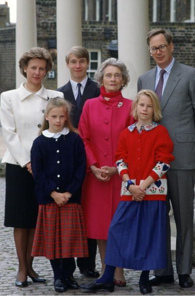 Earl Of Ulster Wedding: Princess Alice, Duchess Of Gloucester With Her Family, The