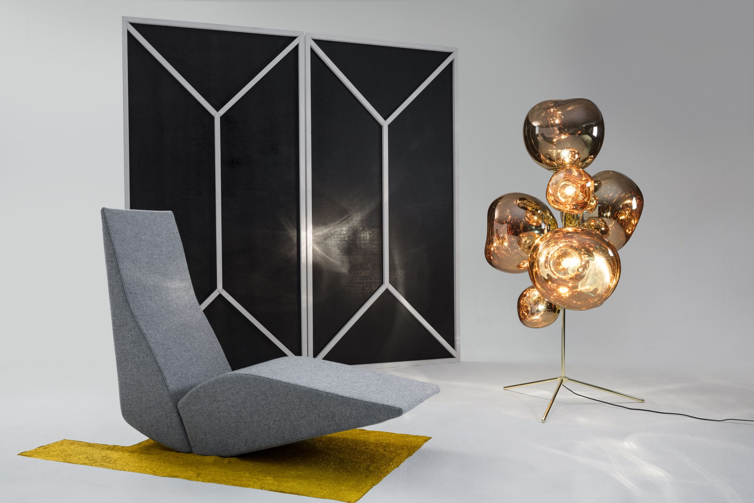 Bird Chaise With Melt Standing Chandelier 15 Off All Tom Dixon Lighting Furniture And Accessories Now Thru Oc Tom Dixon Tom Dixon Melt Chandelier Floor Lamp