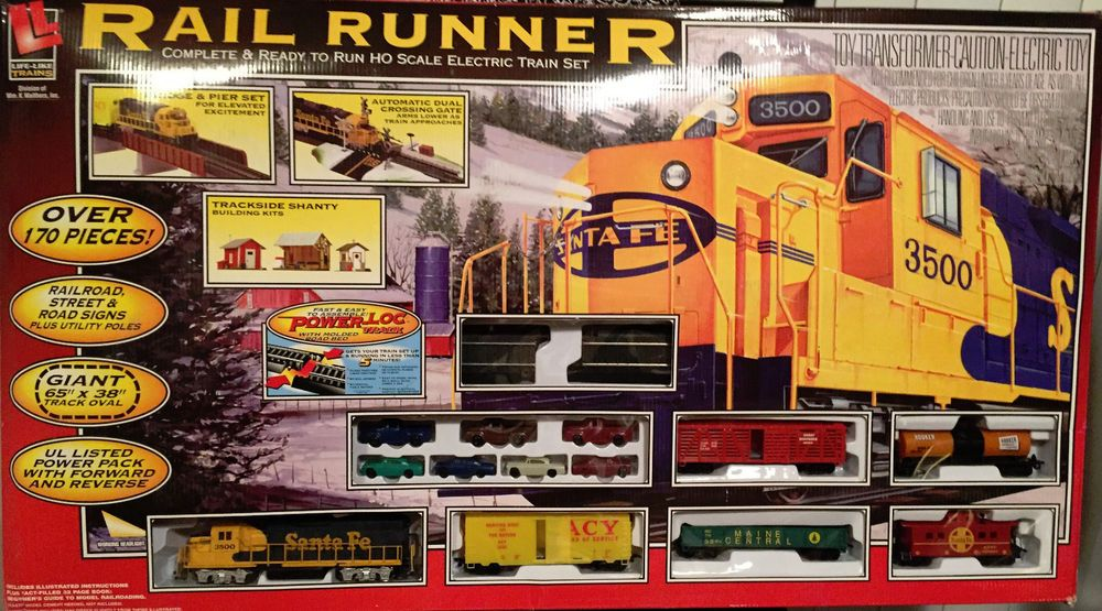Life Like Rail Runner Ho Train Set  Lifelike