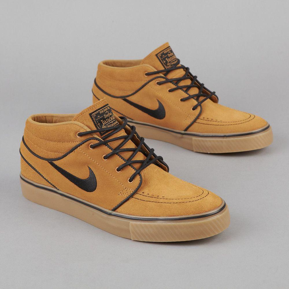 comprar barato nicekicks Nike Sb Zoom Stefan Janoski Mediados De Trigo Negro Y La Parte Inferior De Las Encías mejor precio 2018 2CZtri2v