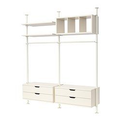 Regalsystem wandschiene ikea  STOLMEN 2 sections - IKEA | recipes | Pinterest | Hidden storage ...
