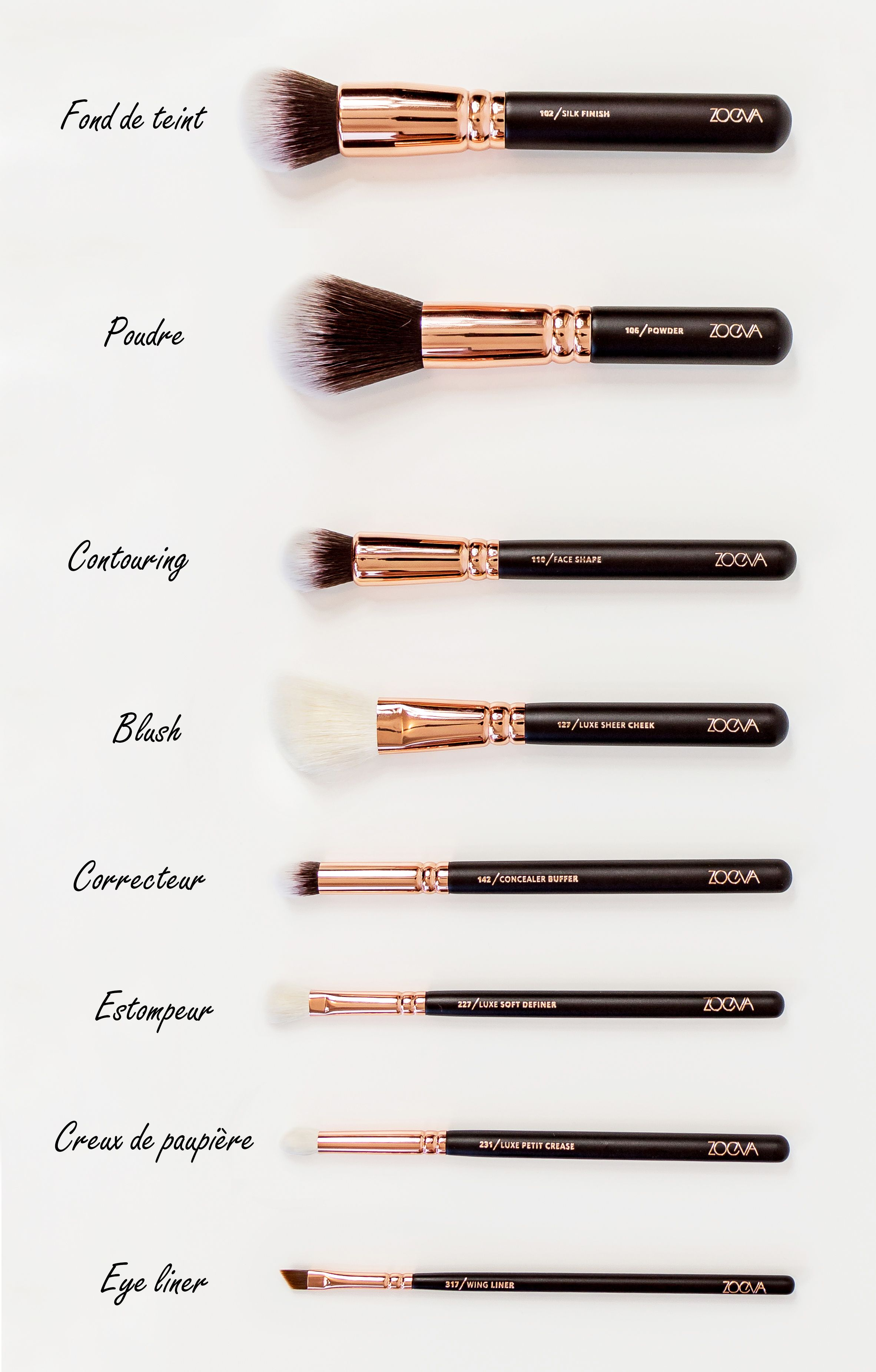 kit de pinceaux zoeva anais cassis framboise makeup smoky eye and makeup brushes. Black Bedroom Furniture Sets. Home Design Ideas
