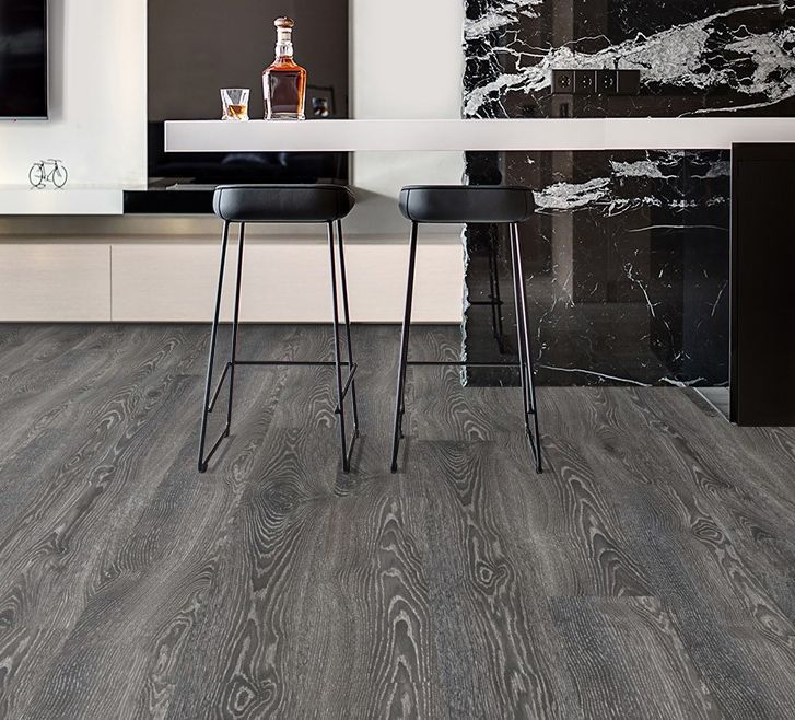 Amor Laminate Flooring In Colour Highland Oak Black It Is Easily